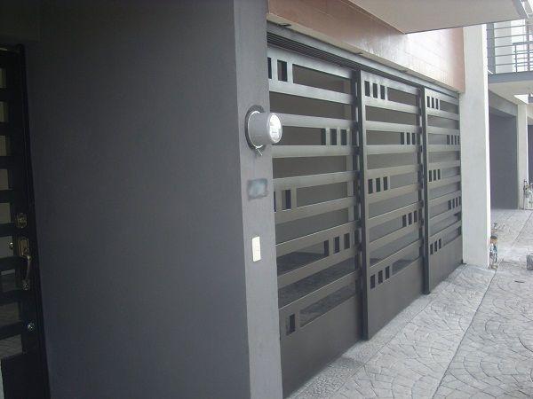 Herreria carmona portones contemporaneos for Puertas para casas minimalistas